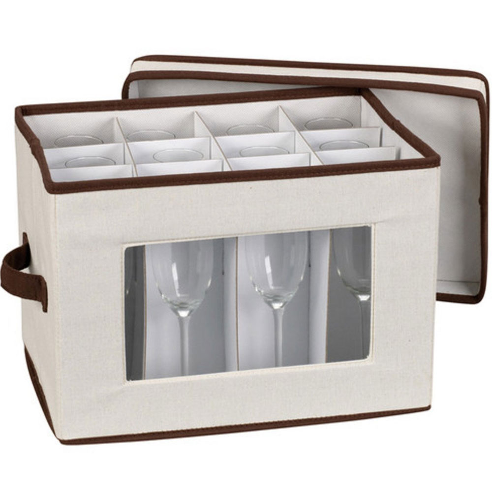 Vision Canvas Champagne Flute Storage Box Image