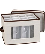 Vision Canvas Champagne Flute Storage Box