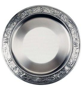 Charger Plate - Antique Pewter Image