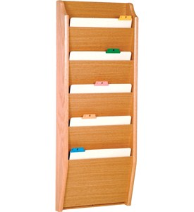 Chart Holder - Oak 5 Pocket Image