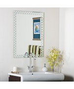 Checkers Frameless Wall Mirror by Decor Wonderland