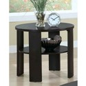 CHERRY CONTEMPORARY ROUND END TABLE BY MONARCH SPECIALTIES
