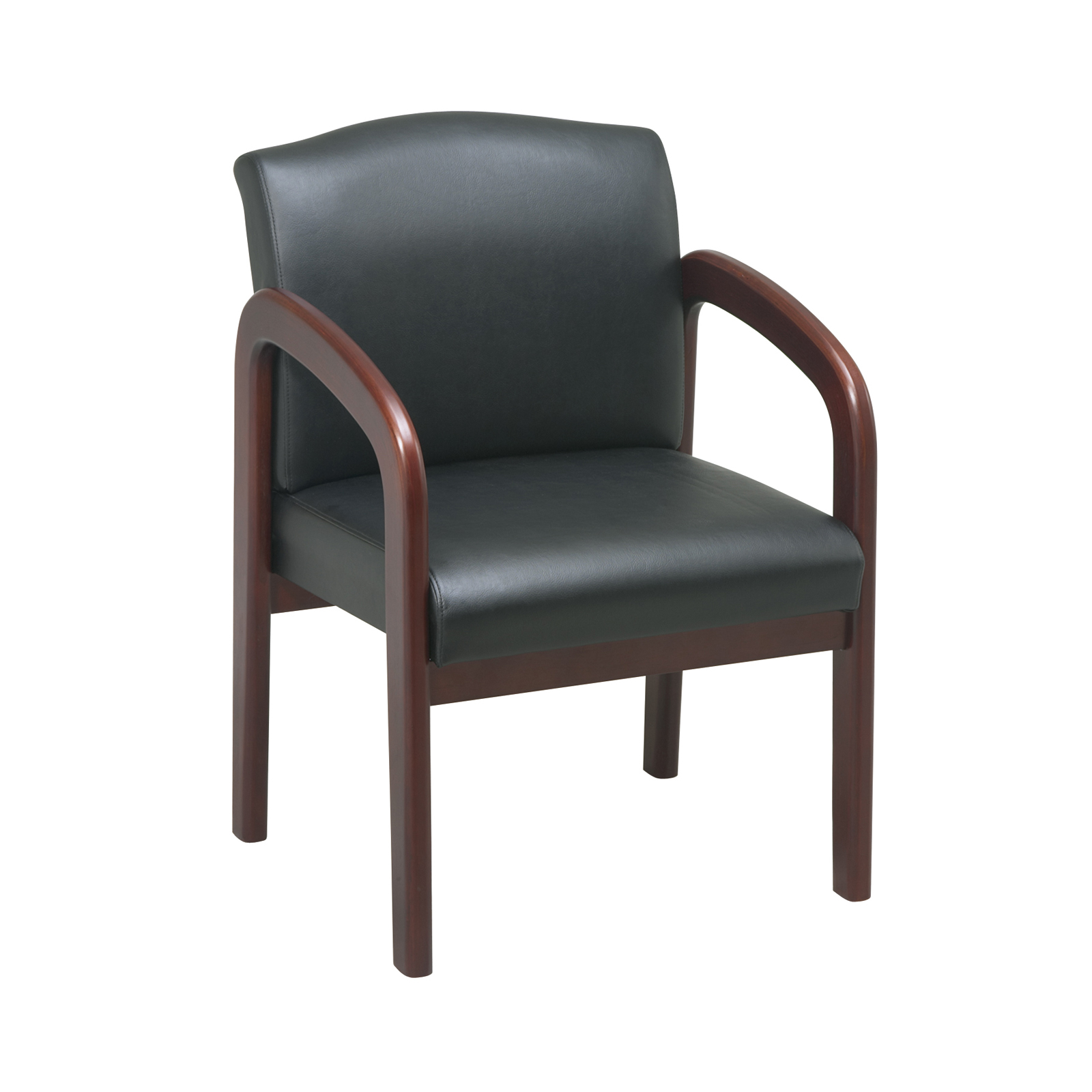 Cherry Finish Wood Visitor Chair by Office Star in Waiting ...
