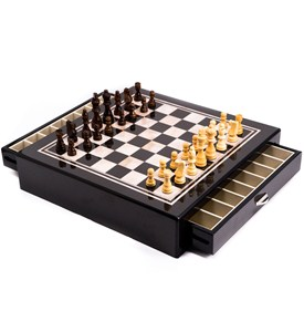 Chess Set with Drawers Image