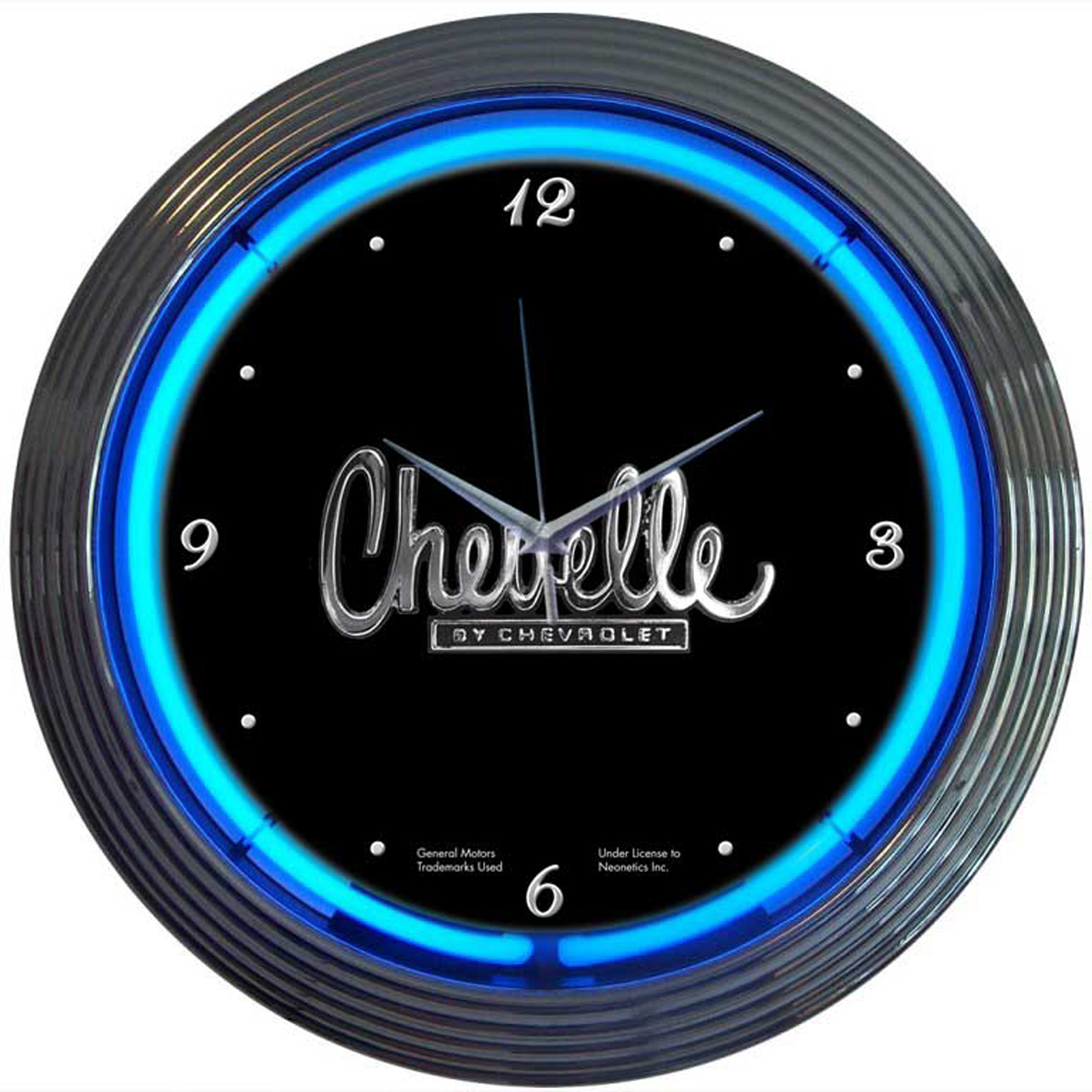 Chevelle Neon Clock by Neonetics in Wall Clocks