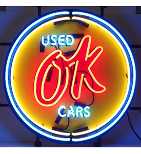 Chevy Vintage OK Used Cars Neon Sign by Neonetics Image