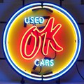 Chevy Vintage OK Used Cars Neon Sign by Neonetics