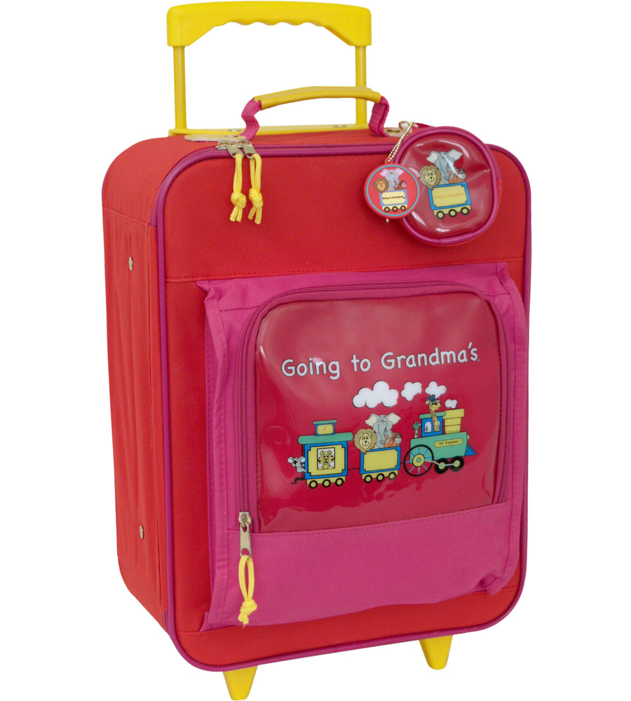Kids Suitcase - Going to Grandmas in Rolling Luggage