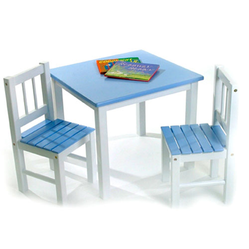 Childrens Wooden Table and Chairs in Kids Furniture