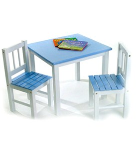 Childrens Wooden Table and Chairs Image