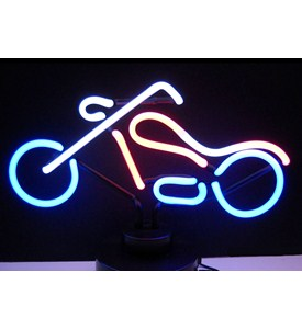 Chopper Neon Sculpture Image