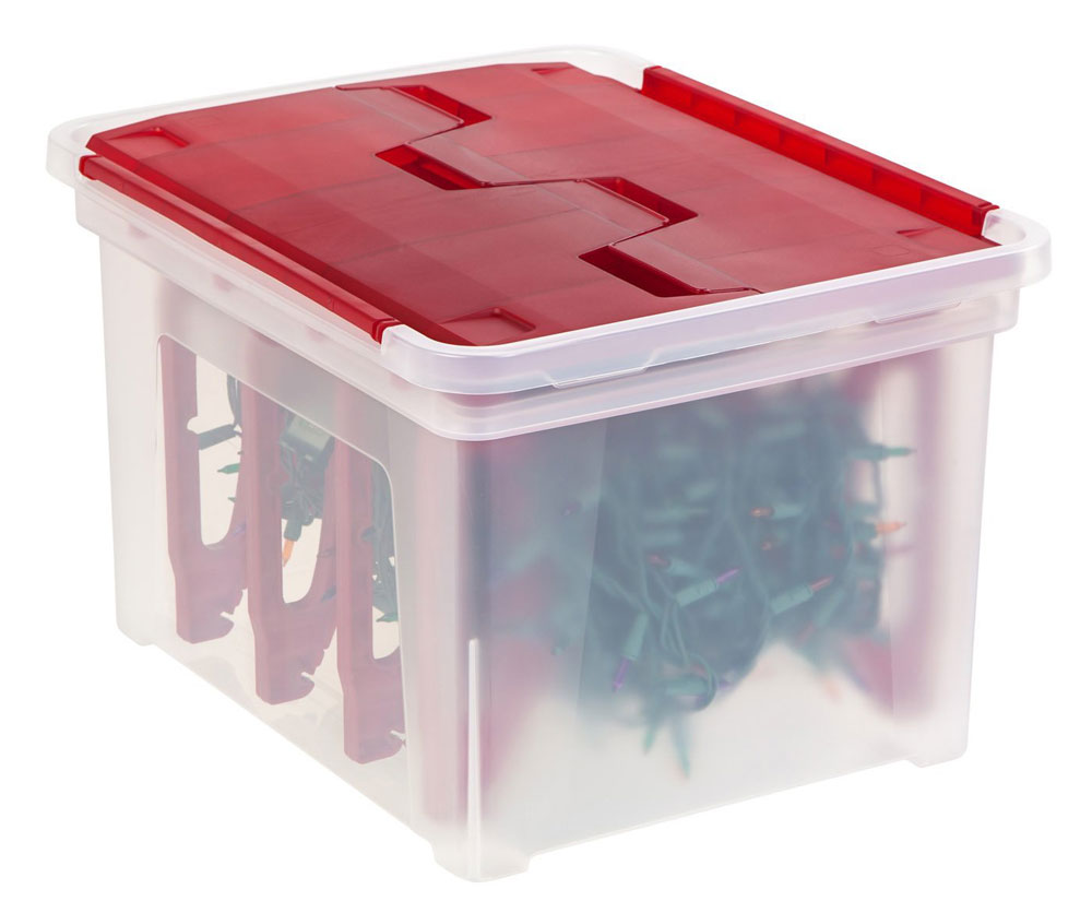 Christmas light storage box in holiday decorations for Xmas decoration storage boxes
