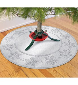 Christmas Tree Skirt - Snowflakes Image
