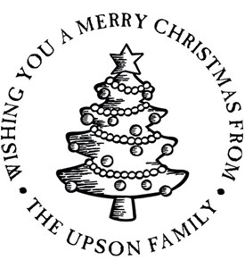 Christmas Tree Personalized Holiday Address Stamp Image