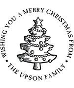 Christmas Tree Personalized Holiday Address Stamp