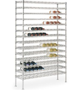 Chrome Commercial Wine Racks Image