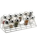 Chrome Countertop Spice Rack