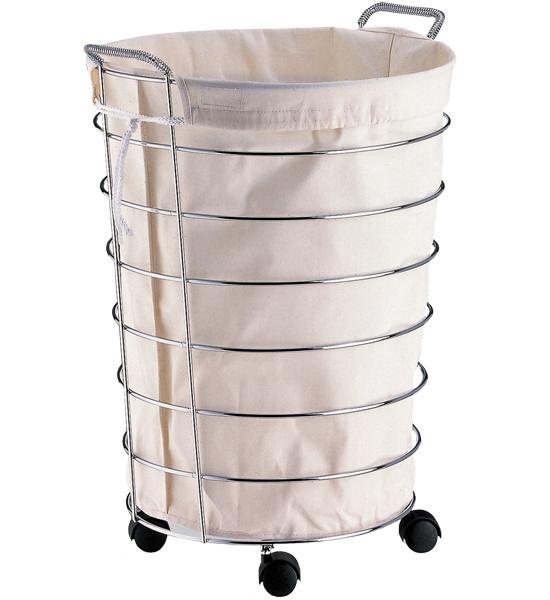 chrome laundry hamper