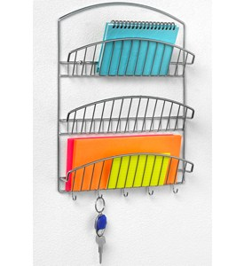 Chrome Mail Organizer and Key Rack Image
