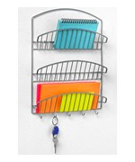 Chrome Mail Organizer and Key Rack