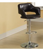Faux Leather Hydraulic Lift Barstool with Chrome Base