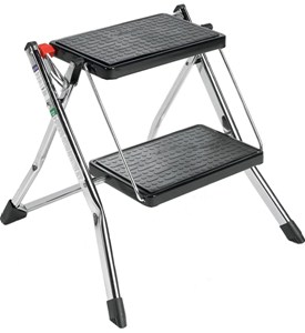 Chrome Two Step Ladder Image
