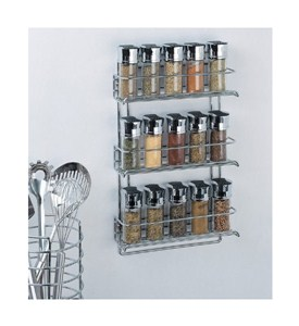 Three-Tier Mounted Spice Rack - Chrome Image