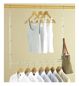Double Up Adjustable Closet Rod Image