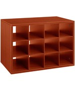 freedomRail O-Box Cubby Unit - Cherry