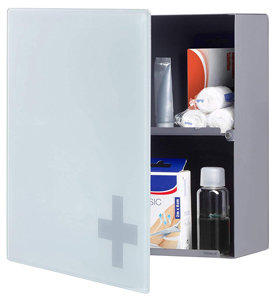 Blomus Locking Medicine Chest in Matte Steel
