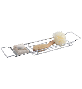 Bathtub Caddy in Expandable Chrome