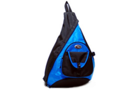 Sling Messenger 18 Inch Backpack in Blue