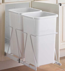 Cabinet trash cans pull out garbage cans organize it - Small pull out trash can ...