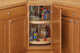 Full-Round 18 Inch Cabinet Lazy Susan - Wood