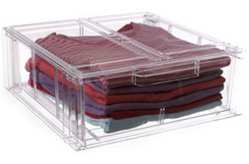 Small Stacking Crystal Clear Clothing Storage Drawer