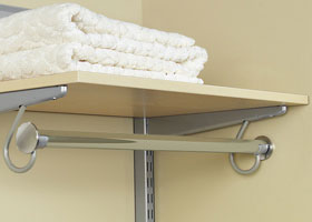 Custom Size Nickel Hanging Closet Rod