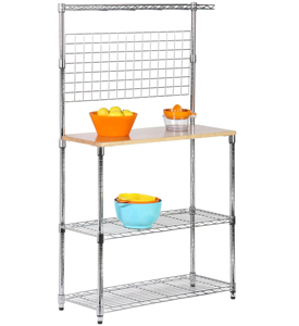 Maple and Chrome Three Tier Cookware Stand