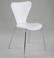 Tendy Stacking Chairs - White (Set of 4)