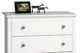 Monterey Five-Drawer Chest in White