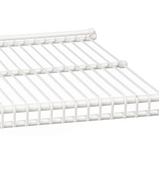 freedomRail 12 Inch Profile Wire Shelving - White