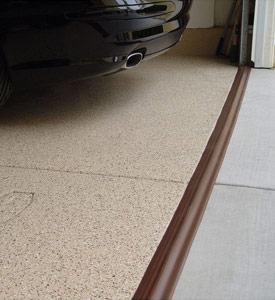 Tsunami Garage Door Seal in Brown