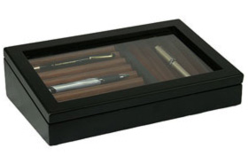 Black and Walnut Pen Display Case