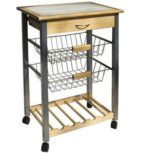 Kitchen Island Carts and Microwave Carts | Organize-It