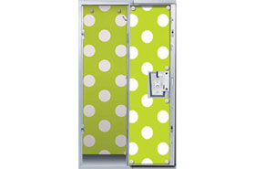 Green Polka Dot Locker Decor Wallpaper