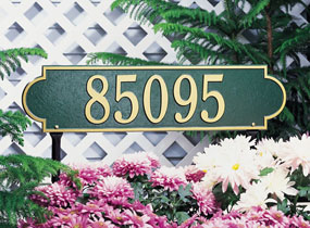 Richmond Horizontal Personalized Lawn Address Plaque
