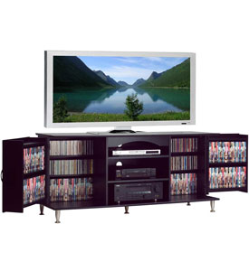 Black Floating Entertainment Center