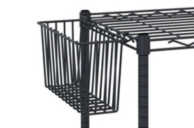 InterMetro Deep Shelf Basket in Black