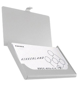 Bungee Credit Card Case in Silver