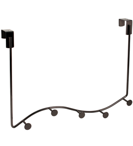Satin Nickel Over The Door Sweep Coat Rack
