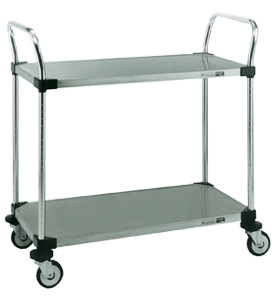 InterMetro Two Shelf Stainless Steel Utility Cart